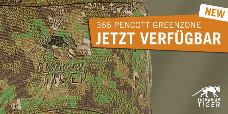 Tasmanian-Tiger Equipment gibt es auch im PenCott GreenZone Camouflage-Muster.