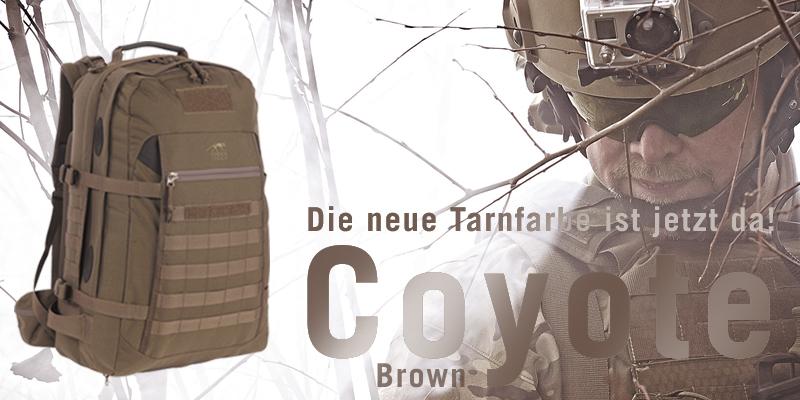 Ausrüstung von Tasmanian Tiger gibt es auch in der Farbe Coyote Brown.